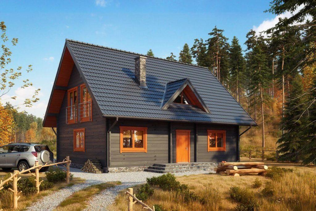 Одноэтажные деревянные дома с мансардой